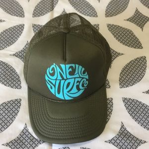 O'Neill olive green trucker's hat